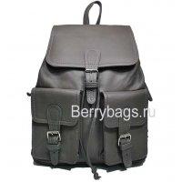 Рюкзак кожаный серый Iron 569334-Rich