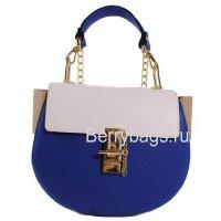 Сумка женская через плечо синяя с белым 039214 -Tiziano Ferro blue white