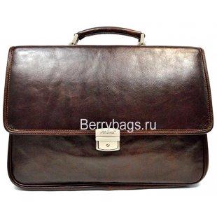 Портфель кожаный коричневый 11287 - Albatrass