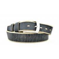 Бежевый джинсовый ремень с прострочкой 121141 - Gallar