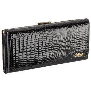 Кожаный кошелек женский классический лакированный Moro Jenny 365260