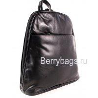 Женский кожаный рюкзачек AB-6 Black