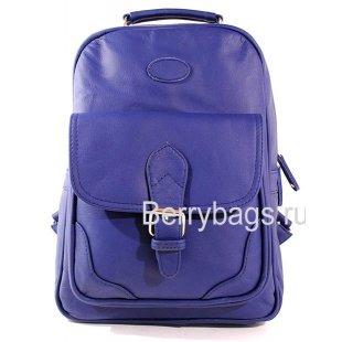 Городской кожаный рюкзак синий AB-7 Jerri Blues
