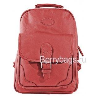 Рюкзак кожаный красный AB-7 Red Rose