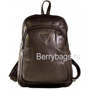 Рюкзак кожаный коричневый AB-8 brown-01