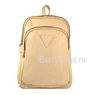 Стильный кожаный городской рюкзак светло бежевый AB-807 - Beige