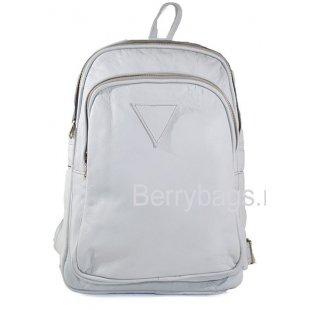 Кожаный городской женский рюкзак мятный AB-809 - Minze