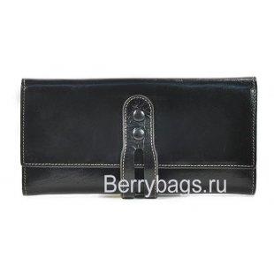 Кожаный кошелек черный ALBATROSS 21268