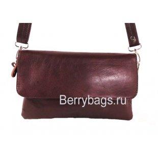 Женская сумка через плечо AO -021 -Broudy Bordo
