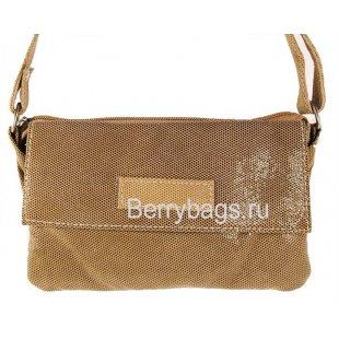 Женская сумка через плечо AO -24 -Oblong Biege Dot