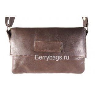 Женская сумка через плечо AO -24 -Oblong Brown
