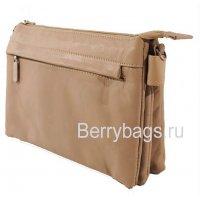 Женская плечевая сумка AO -26 -Smooti Biege