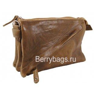 Женская плечевая сумка AO-19 -Diagy Brown