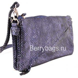 Женская плечевая сумка AO-19 -Diagy Violet Snake