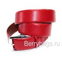 Ремень мужской кожаный красный Adriano Ferroro K-6704