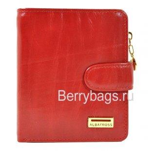 Кошелек женский кожаный Albatross 150251 Red