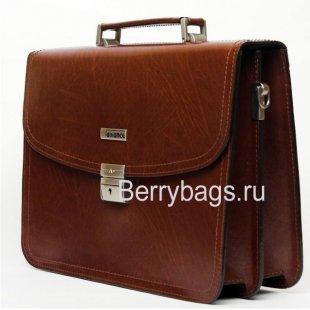 Деловой портфель мужской Alliance 2-104k Brown