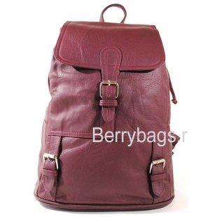 Рюкзак кожаный BB39265-04 Aracul Red