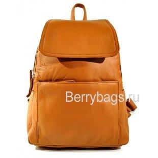 Рюкзак городской кожаный BARRY 39231 Cognac