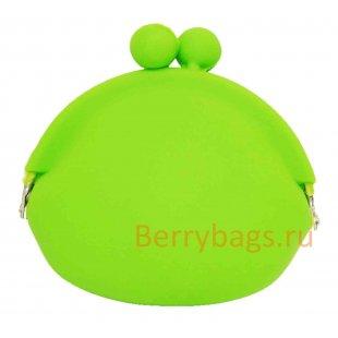 Силиконовый кошелек для мелочи зеленый (мелочница) BB 1013