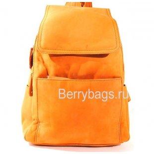 Городской рюкзак кожаный женский рыжий BB 144630 - Kari