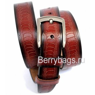 Мужской ремень Struzzo коричневый страус BB 39203