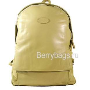 Фисташковый городской кожаный рюкзак BB 39233-15 -Pistachio