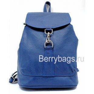 Рюкзак кожаный синий BB 396-569 - Blaue