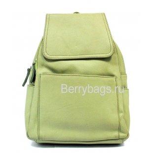 Рюкзак кожаный фисташковый BB 396561 - Fistachi