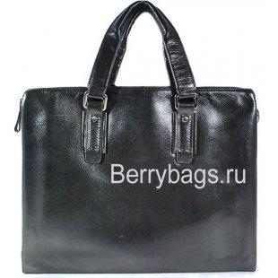 Классическая мужская сумка из гладкой кожи BB 81844 Black