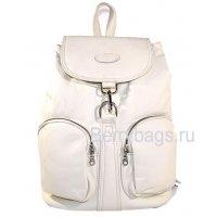 Рюкзак кожаный белый BB-39232 Fluffy cloud