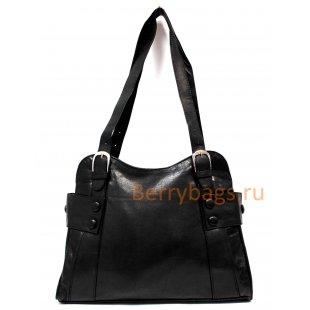 Женская сумка Assanta черная кожаная BB39 NFO11