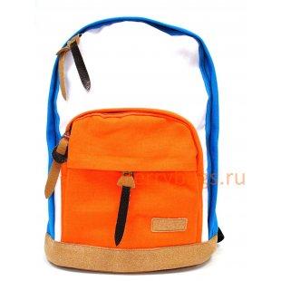 Рюкзак текстильный Indikiddi голубой-рыжий BB39124-02-01