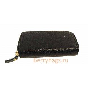 Ключница на молнии черная Gouver BB39137-06-01