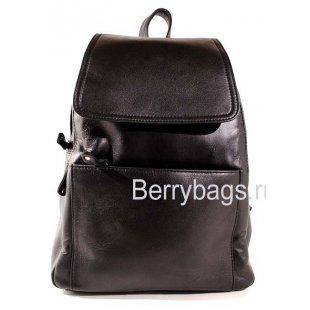 Рюкзак городской кожаный Mikka BB39231 black