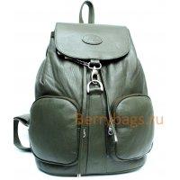 Рюкзак кожаный зеленый Rubin BB39232 Green
