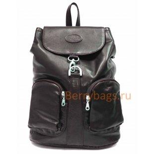Рюкзак городской кожаный Marius BB39232 brown