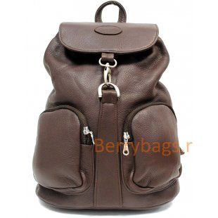 Рюкзак кожаный коричневый NERON BB39232