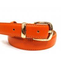 Ремень женский Marmohec кожаный оранжевый BB39247-04