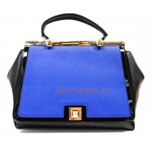 Женская сумка саквояж Conmaël синего цвета BB39252