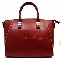 Женская сумка кожаная Deneza бордового цвета BB39253