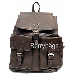 Рюкзак кожаный Ohto коричневый BB39264 brown