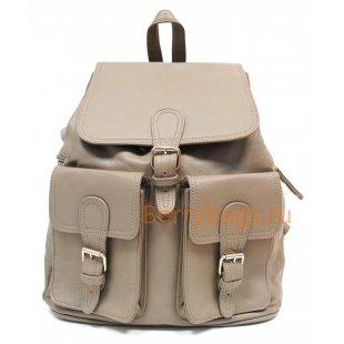 Рюкзак кожаный Petra серый BB39264