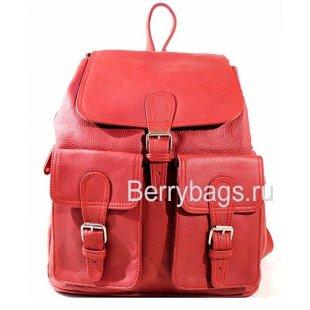 Рюкзак кожаный BB39265 Z37 Red