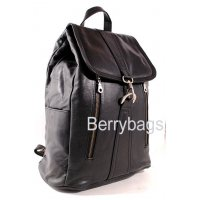 Рюкзак кожаный черный Dark Wolf BB39265 black