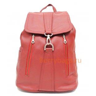 Рюкзак кожаный Monique красный BB39265 red