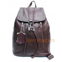 Рюкзак кожаный бордовый Well BB39265 bordo