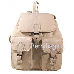 Рюкзак кожаный BB39266 Z37 White