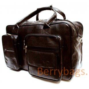 Сумка дорожная Urbanu кожаная черная BB39TR-BAG2-brown