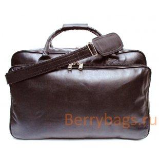 Сумка дорожная Olof коричневая кожа BB39TR-bag-brown